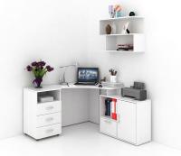 Комплект мебели для кабинета MFMaster Корнет УШ-2-02 / Корнет-2-02-БТ-16 (белый) -