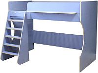 Кровать-чердак Можга Капризун 1 / Р432 (лен голубой) -