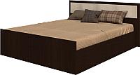 Двуспальная кровать Ricco Фиеста 160x200 (венге/дуб атланта) -