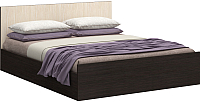 Двуспальная кровать Ricco Европа 160x200 (венге/дуб атланта) -