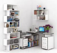 Комплект мебели для кабинета MFMaster Краст УШ-3-04 / Краст-3-04-БТ-16 (белый) -