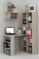 Комплект мебели для кабинета MFMaster Рикс УШ-2-01 / Рикс-2-01-ДС-16 (дуб сонома) -