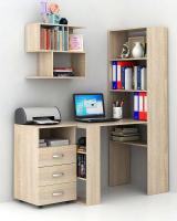 Комплект мебели для кабинета MFMaster Рикс УШ-4-01 / Рикс-4-01-ДС-16 (дуб сонома) -