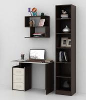 Комплект мебели для кабинета MFMaster Слим УШ-1-03 / Слим-1-03-ВМ-ДМ-16 (венге/дуб молочный) -