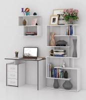 Комплект мебели для кабинета MFMaster Слим УШ-1-06 / Слим-1-06-БТ-16 (белый) -