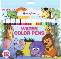Фломастеры Darvish На водной основе / DV-7857-12 (12шт) -
