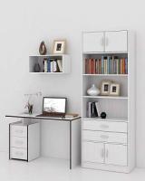 Комплект мебели для кабинета MFMaster Слим УШ-2-04 / Слим-2-04-БТ-16 (белый) -