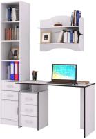 Комплект мебели для кабинета MFMaster Слим УШ-2-05 / Слим-2-05-БТ-16 (белый) -