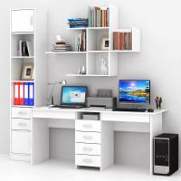 Комплект мебели для кабинета MFMaster Тандем УШ-2Я-06 / Тандем-2Я-06-БТ-16 (белый) -