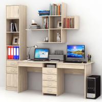 Комплект мебели для кабинета MFMaster Тандем УШ-2Я-06 / Тандем-2Я-06-ДС-16 (дуб сонома) -