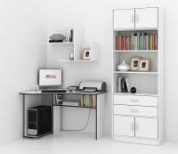 Комплект мебели для кабинета MFMaster Триан УШ-1-02 / Триан-1-02-БТ-16 (белый) -