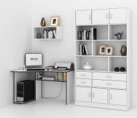 Комплект мебели для кабинета MFMaster Триан УШ-1-03 / Триан-1-03-БТ-16 (белый) -