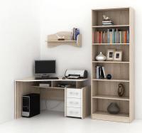Комплект мебели для кабинета MFMaster Триан УШ-5-05 / Триан-5-05-СБ-16 (дуб сонома/белый) -