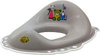 Детская накладка на унитаз Maltex Мишка и друзья / 5337 (серый/белый) -