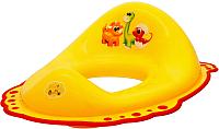 Детская накладка на унитаз Maltex Дино / 5961 (желтый/красный) -