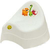 Детский горшок Maltex Дино / 6005 (белый) -