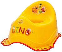 Детский горшок Maltex Дино / 6012 (желтый/красный) -