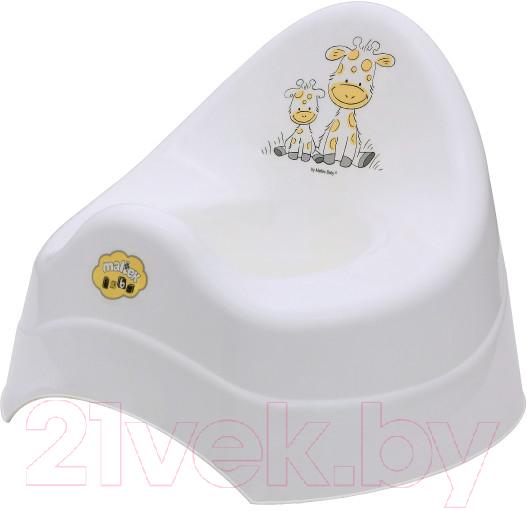 Купить Детский горшок Maltex, Жираф / 7552 (белый), Польша, полипропилен