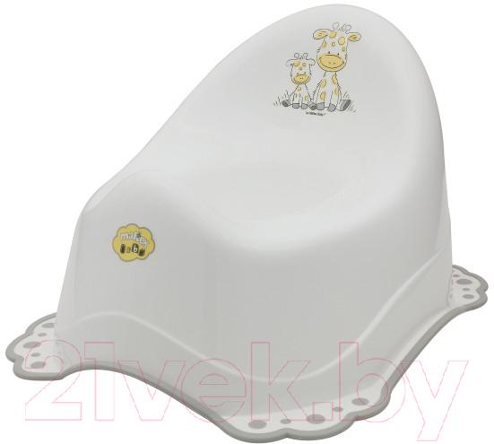 Купить Детский горшок Maltex, Жираф / 7569 (белый/серый), Польша, полипропилен