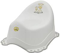 Детский горшок Maltex Жираф / 7569 (белый/серый) -