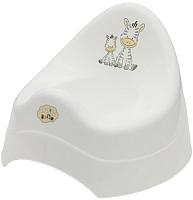 Детский горшок Maltex Зебра / 6500 (белый) -