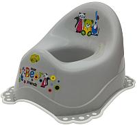 Детский горшок Maltex Мишка и друзья / 5313 (серый/белый) -