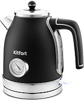 Электрочайник Kitfort KT-6102-1 (черный/серебристый) -