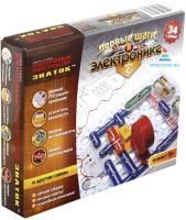 Научная игра Знаток Первые шаги в электронике. Набор С / 70198 (34 схемы) -