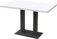 Обеденный стол Millwood Лофт Берлин L 120x70x75 (дуб белый Craft/металл черный) -