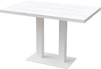 Обеденный стол Millwood Лофт Берлин L 120x70x75 (дуб белый Craft/металл белый) -