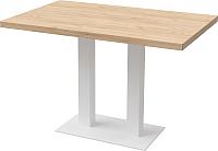 Обеденный стол Millwood Лофт Берлин L 120x70x75 (дуб золотой Craft/металл белый) -