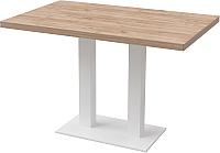 Обеденный стол Millwood Лофт Берлин L 130x80x75 (дуб табачный Craft/металл белый) -
