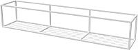 Полка Millwood Loft 1 200x37x37 (металл белый) -