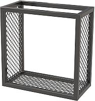 Полка Millwood Loft 2 одиночная 40x20x40 (металл черный) -