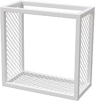 Полка Millwood Loft 2 одиночная 40x20x40 (металл белый) -