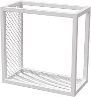 Полка Millwood Loft 3 левая 40x20x40 (металл белый) -