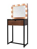 Туалетный столик с зеркалом Millwood Loft Ф 50x40x210 (вишня оксфорд) -