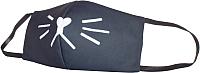 Маска защитная многоразовая Malvina Котик (средняя/черный) -