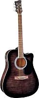 Электроакустическая гитара Jay Turser JJ45FCET-BKSB -
