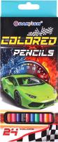 Набор цветных карандашей Darvish Машинка / DV-1073-24 (24шт) -