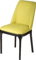 Стул Alesan Жасмин (эмаль черная/микровелюр лимонно-жёлтый) -
