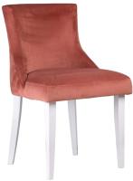 Стул Alesan Луи (эмаль белая/велюр коричнево-розовый) -