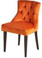 Стул Alesan Луи 2 (эмаль черная/велюр оранжевый) -