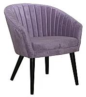 Кресло мягкое Alesan Ориэль (эмаль черная/искусственная замша серая) -
