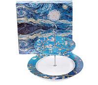 Ваза-этажерка Белбогемия Ван Гог. Цветущий миндаль RN10098-Z042 / 86245 -