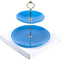 Ваза-этажерка Белбогемия Э10-2118г/синяя1/10 / 87388 -