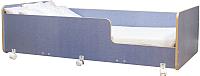 Кровать-тахта Можга Капризун 4 / Р439 (лен голубой) -
