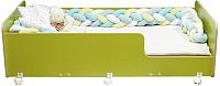 Кровать-тахта детская Можга Капризун 4 / Р439 (лайм) -
