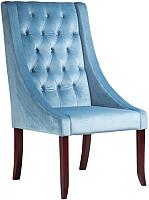 Кресло мягкое Alesan Фрост (орех лак/велюр голубой) -
