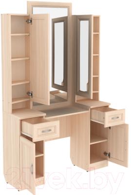 Туалетный столик с зеркалом Уют Сервис Гарун Тр30 (молочный дуб)